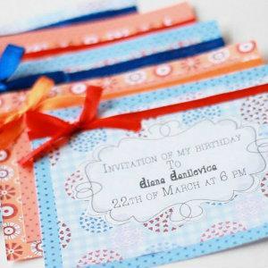 приглашение своими руками на день рождения шаблоны, схемы, материалы