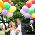 Эффектное оформление свадьбы используйте воздушные шарики