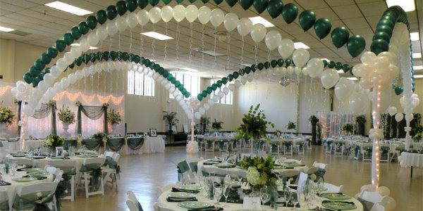 оформление  свадьбы  используйте  воздушные шарики