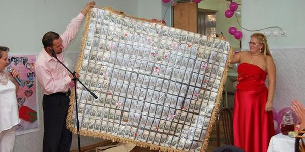 плед из денег