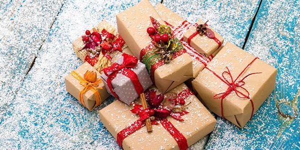 новогоднее оформление подарков