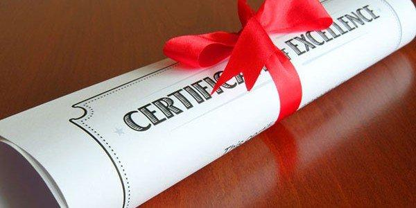 скртификат на мастер класс